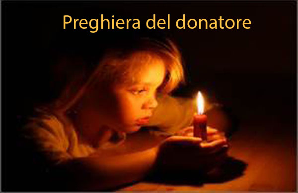 preghiera del donatore
